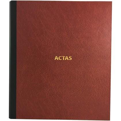 Libro de Actas de Hojas Móviles - Color Bordeus (Modelo 1 - 50 hojas - Castellano)